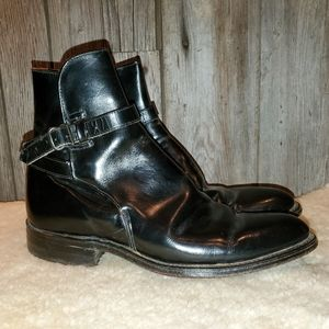 ACME vintage womens black harness ankle boots 6.5